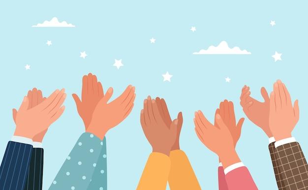 Ilustración de manos aplaudiendo