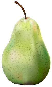 Ilustración de la manzana aislada en el fondo blanco