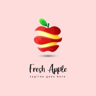 Ilustración de manzana fresca