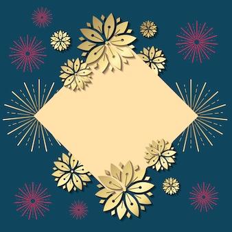 Ilustración de maqueta de año nuevo chino