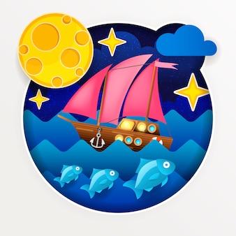 Ilustración del mar