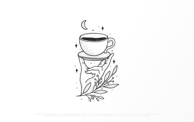 Ilustración de una marca de café