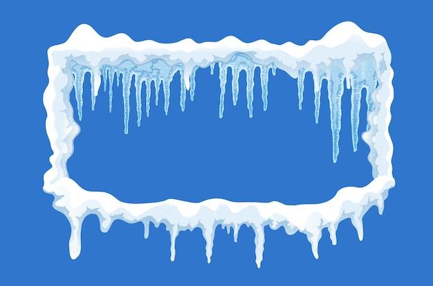 Ilustración de marco de capa de hielo de nieve