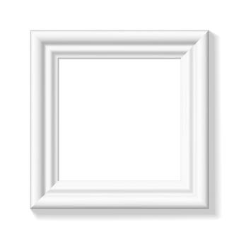Ilustración de marco de cuadro cuadrado blanco