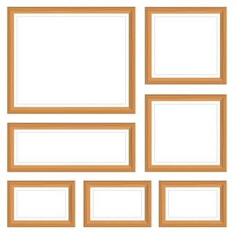 Ilustración de marco de foto aislado en blanco