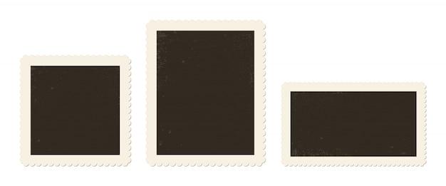 Ilustración de marco de fotos vintage en el fondo