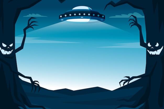 Ilustración de marco de halloween