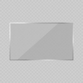 Ilustración de marco de vidrio resplandor