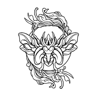 Ilustración de mariposa