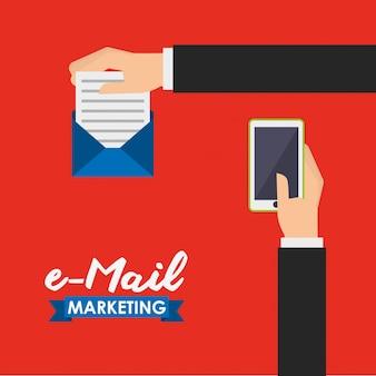 Ilustración de marketing por correo electrónico