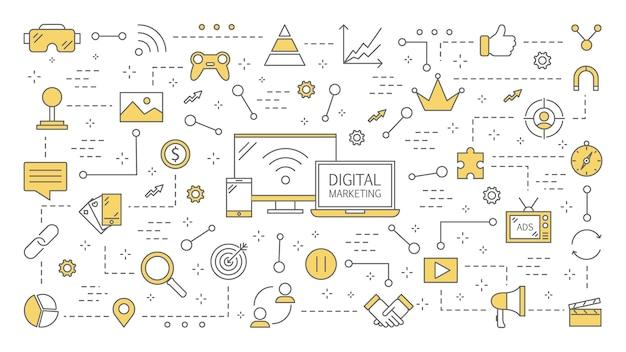 Ilustración de marketing digital