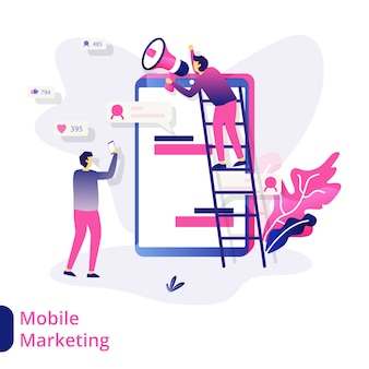 Ilustración de marketing móvil