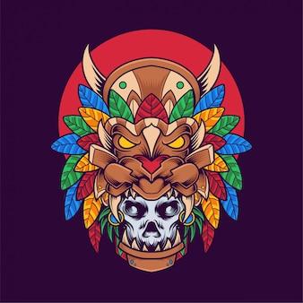 Ilustración de máscara de calavera