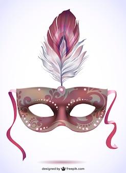 Ilustración máscara de carnaval