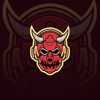 Ilustración de máscara de demonio