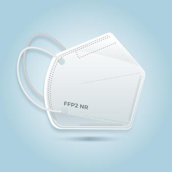 Ilustración de máscara facial plana ffp2