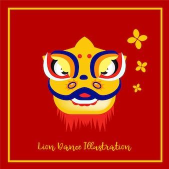 Ilustración de máscara de león