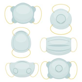 Ilustración de máscara de respiración aislada en blanco