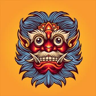 Ilustración de máscara de satanás