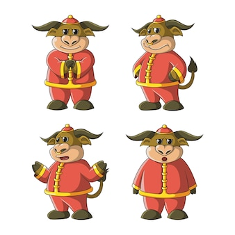 Ilustración de mascota de búfalo