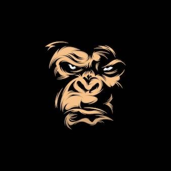 Ilustración de mascota de cabeza kingkong