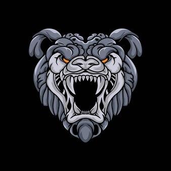 Ilustración de mascota de cabeza de tigre