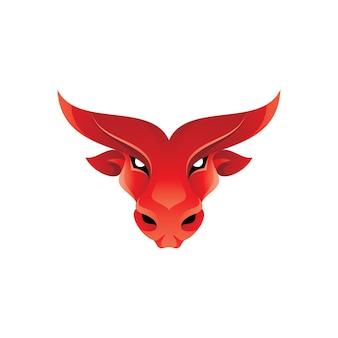 Ilustración de mascota de cabeza de toro