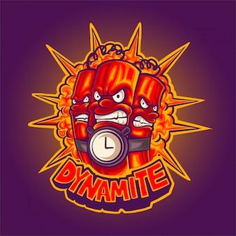 Ilustración de la mascota de dinamita