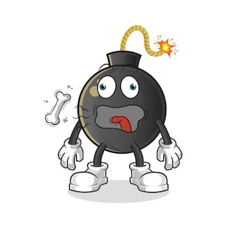 Ilustración de mascota de eructo de bomba