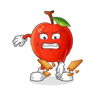 Ilustración de mascota de karate de cereza