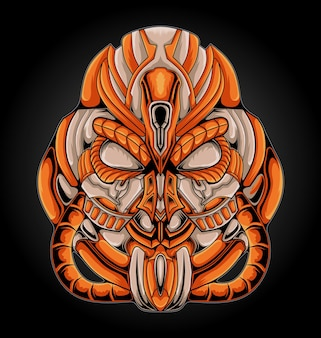 Ilustración de la mascota del monstruo mecha