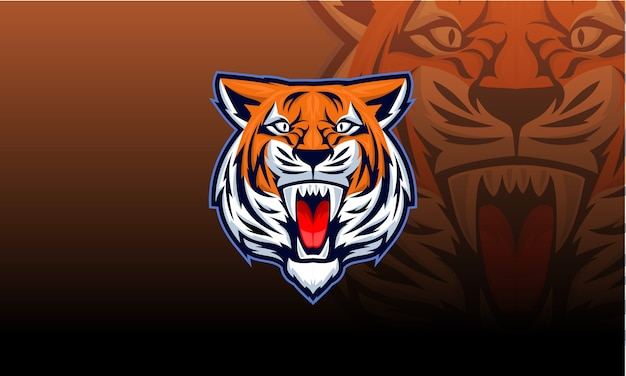 Ilustración de mascota de tigre enojado