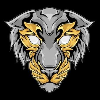 Ilustración de mascota de tigre de ornamento