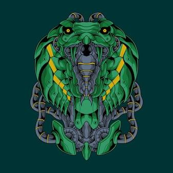Ilustración mecánica de cobra