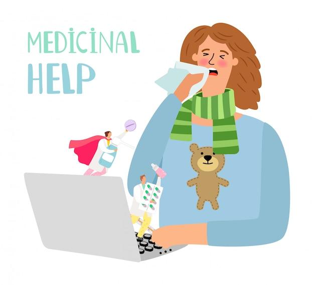 Ilustración médica en línea