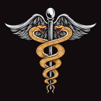 Ilustración médica de serpiente