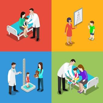 Ilustración de médico pediatra de medicina