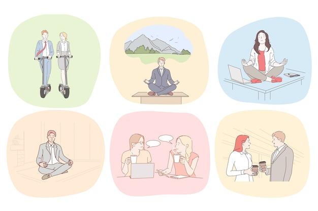 Ilustración de meditación y relajación.