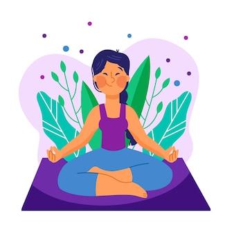 Ilustración con meditación