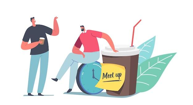 Ilustración de meetup de colegas