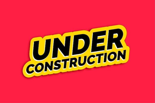 Ilustración de mensaje de pantalla en construcción