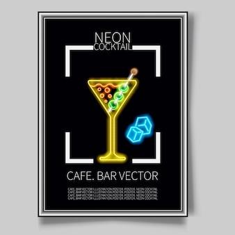 Ilustración para el menú del bar coctelería alcohólica piña colada.