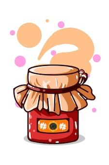 Ilustración de mermelada de miel