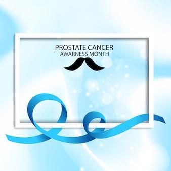 Ilustración de mes de advertencia de cáncer de próstata de cinta azul