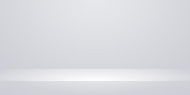 Ilustración de mesa o estante de estudio blanco vacío
