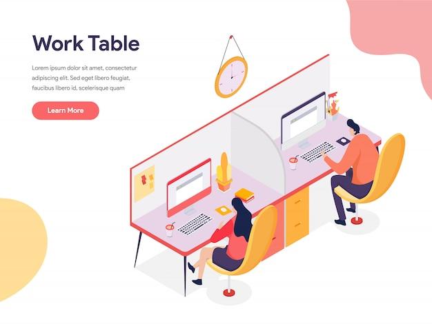 Ilustración de la mesa de trabajo