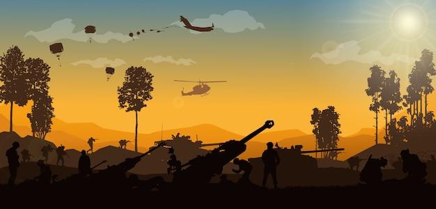 Ilustración militar, fondo del ejército.