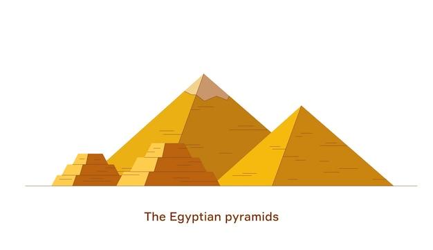 Ilustración mínima de vector de pirámides egipcias