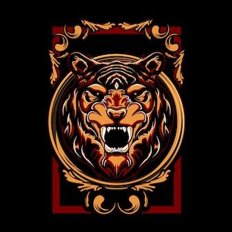 Ilustración mística del tigre