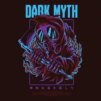 Ilustración del mito oscuro